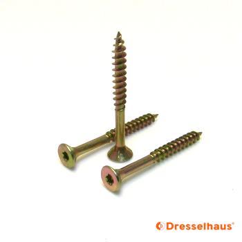TX-Antrieb A2 100 St/ück 6 x 100 Edelstahl-Schrauben //Spanplatten-Schrauben Teilgewinde V2A